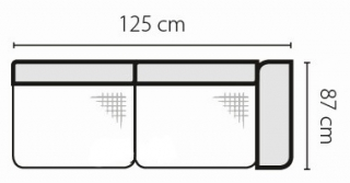 Stagra Rohová sedacia súprava Barello na vyskladanie Barello: 2SBP s úlož. priestorom