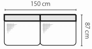 Stagra Rohová sedacia súprava Barello na vyskladanie Barello: 3