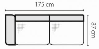 Stagra Rohová sedacia súprava Barello na vyskladanie Barello: 3BL