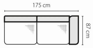 Stagra Rohová sedacia súprava Barello na vyskladanie Barello: 3BP