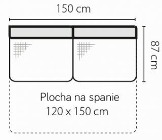 Stagra Rohová sedacia súprava Barello na vyskladanie Barello: 3F s plochou na spanie