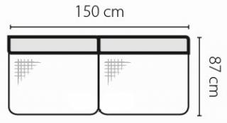 Stagra Rohová sedacia súprava Barello na vyskladanie Barello: 3S s úlož. priestorom