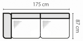 Stagra Rohová sedacia súprava Barello na vyskladanie Barello: 3SBL s úlož. priestorom