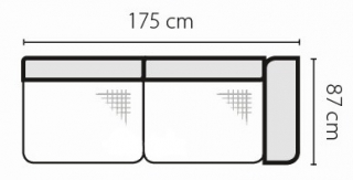 Stagra Rohová sedacia súprava Barello na vyskladanie Barello: 3SBP s úlož. priestorom