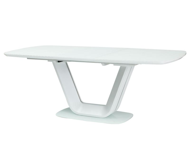 Signal Rozkladací jedálenský stôl ARMANI Farba: Biela