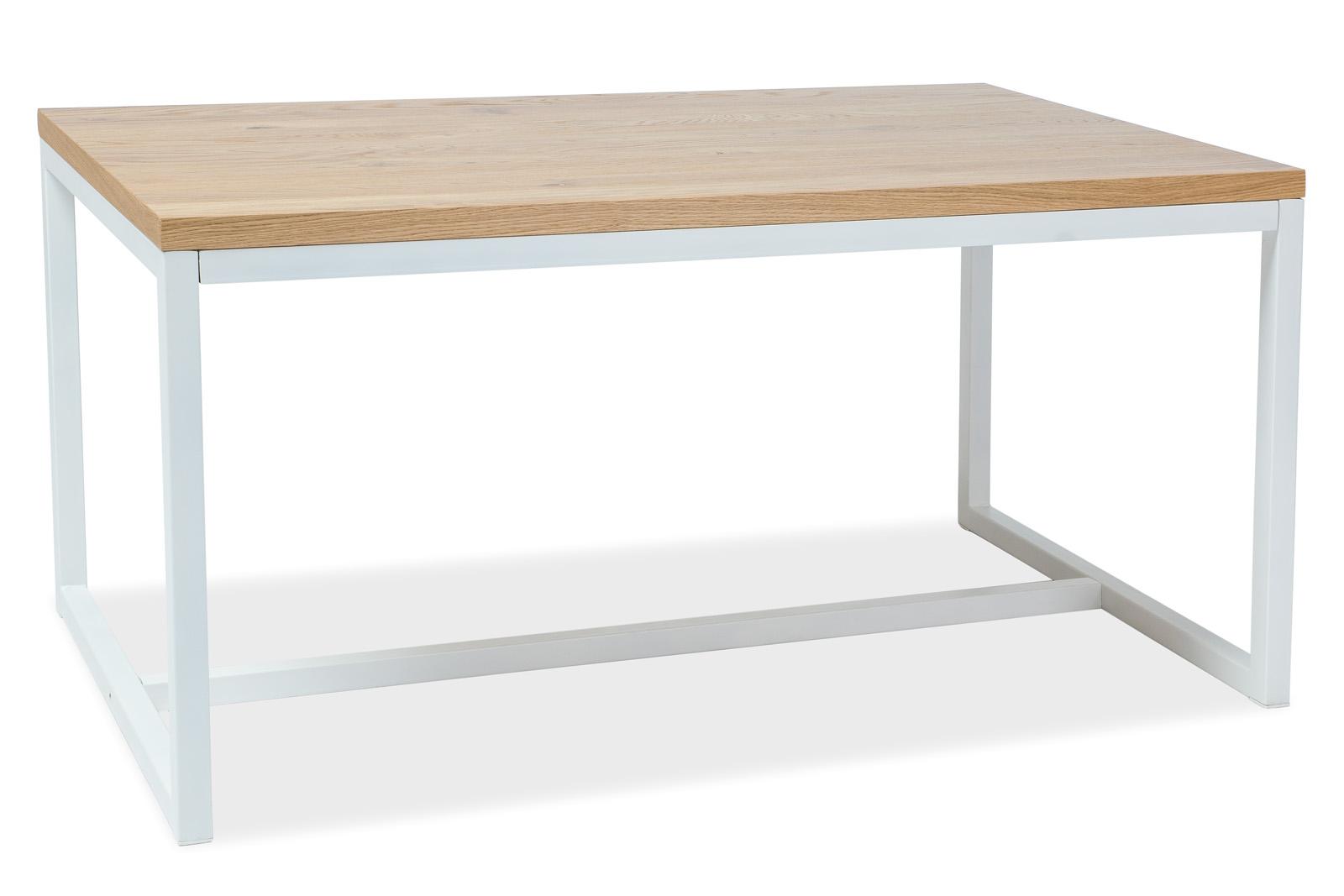 Signal Jedálenský stôl LORAS A | dubová dýha Prevedenie: Biela - 77 x 90 x 180 cm