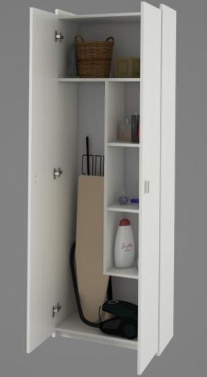 Tempo Kondela Kúpelňa Natali Natali: kombinovaná skriňa typ 6 biela
