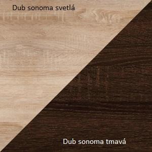 WIP Komoda Angel 04 Farba: Dub sonoma svetlý / dub sonoma tmavý