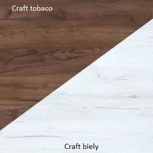 WIP TV stolík Angel 12 Farba: Craft tobaco / craft biely
