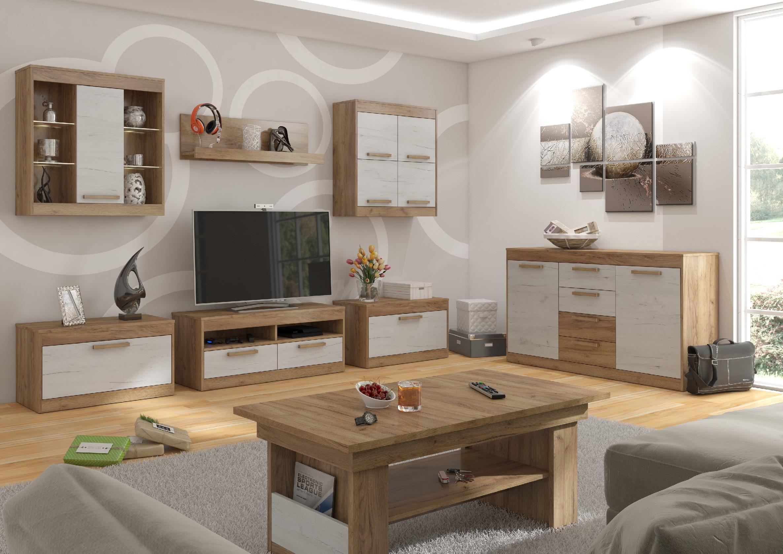 Obývacia stena Maximus WIP 2 Farba: Craft zlatý / craft biely