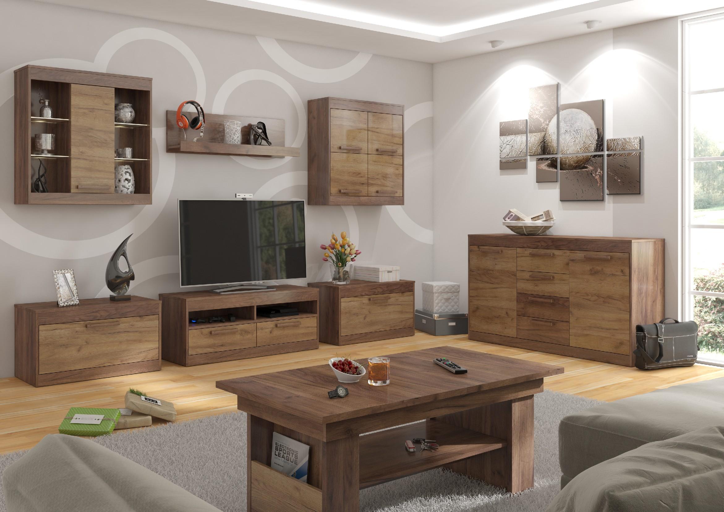 Obývacia stena Maximus WIP 2 Farba: Craft tobaco / craft zlatý
