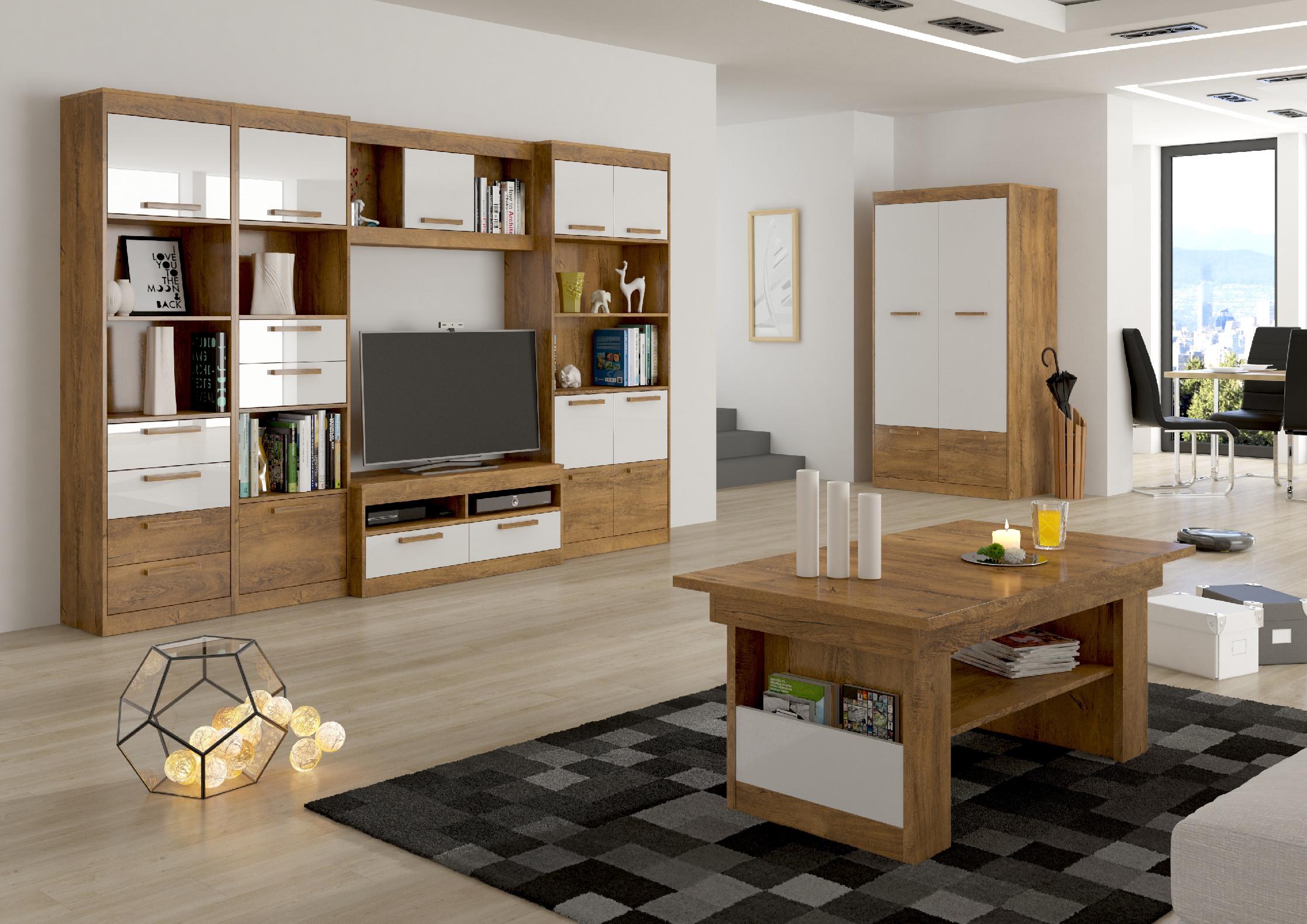 Obývacia stena Maximus WIP 3 Farba: Slivka / biely