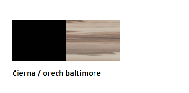 Meblar Manželská posteľ MORENA Farba: Čierna / orech baltimore