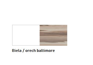 Meblar Malá komoda MORENA Farba: Biela / orech baltimore