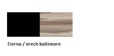 Meblar Malá komoda MORENA Farba: Čierna / orech baltimore