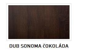 ArtMadex Manželská posteľ FINEZJA F10 Farba: Dub sonoma čokoládová