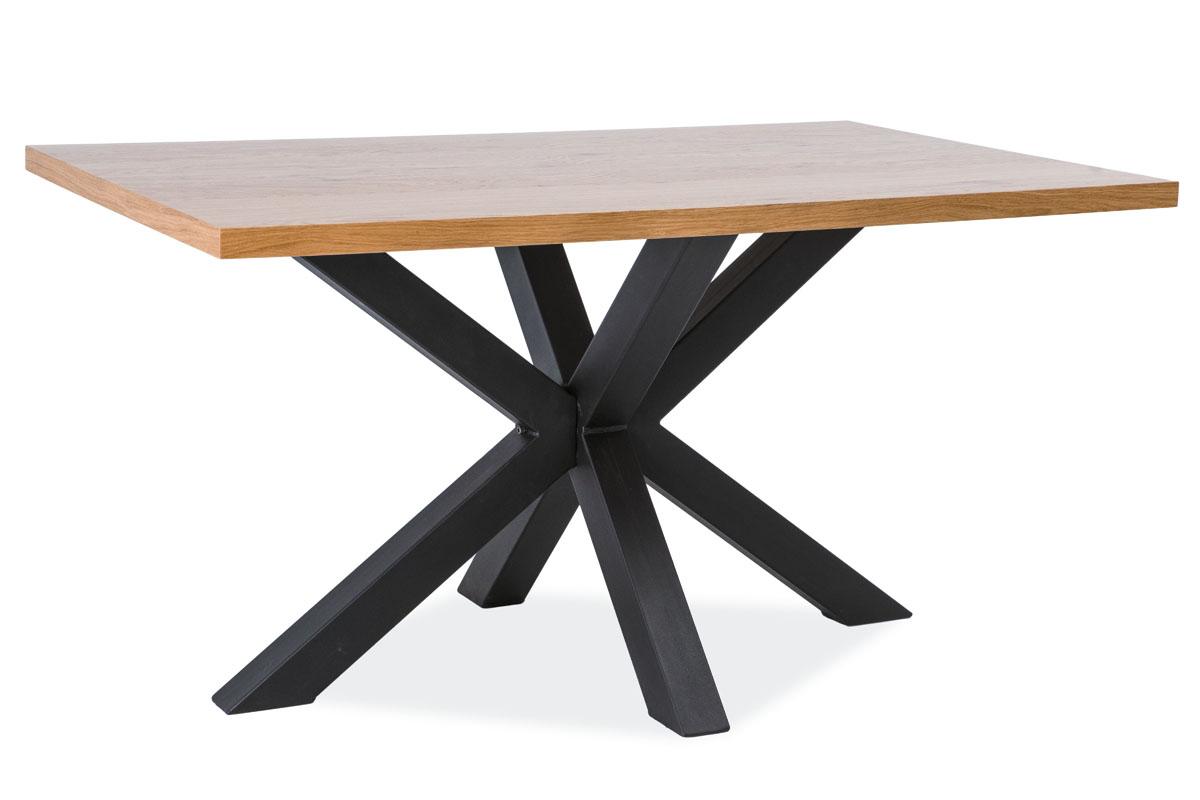 Signal Jedálenský stôl CROSS / Dubová dýha Prevedenie: 75 x 90 x 150 cm