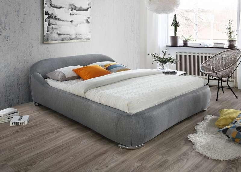 Signal Manželská posteľ Pandora Prevedenie: 160 x 200 sivá látka