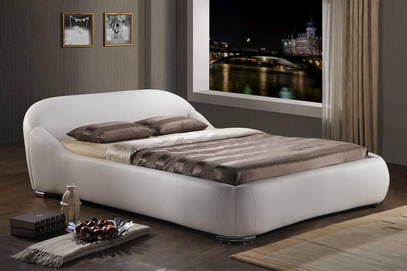 Signal Manželská posteľ Pandora Prevedenie: 160 x 200 biela ekokoža