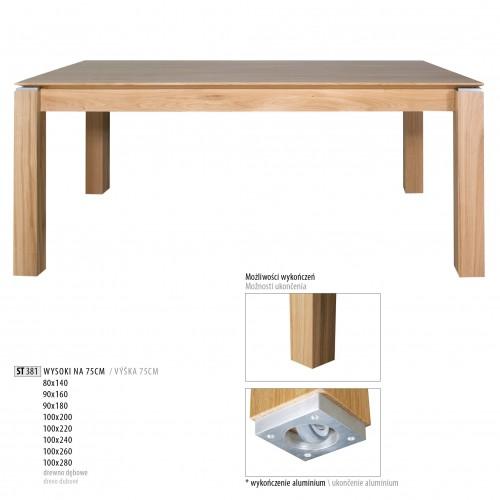 Drewmax Jedálenský stôl - masív ST381 / dub Prevedenie: B 90 x 75 x 160 cm