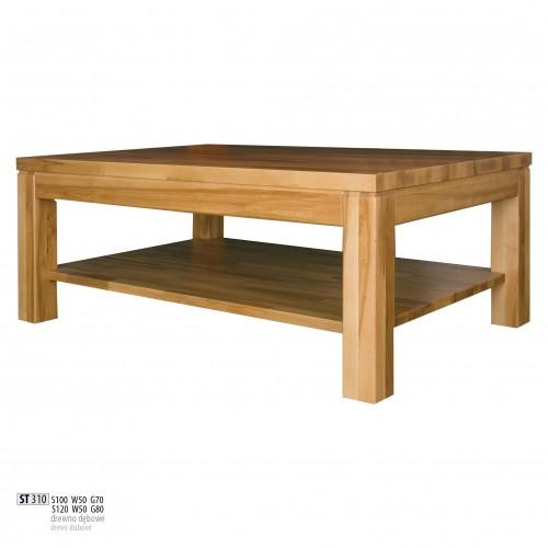 Drewmax Konferenčný stolík - masív ST310 - hrúbka 4 cm / dub Prevedenie: B 120 x 50 x 80 cm