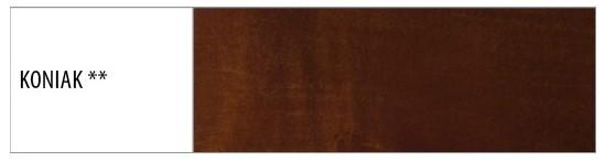 Drewmax Jednolôžková posteľ - masív LK109 | 120 cm buk Morenie: Koniak