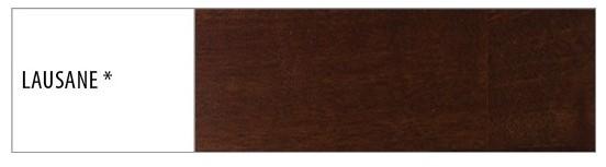 Drewmax Manželská posteľ - masív LK109 | 180 cm buk Morenie: Lausane