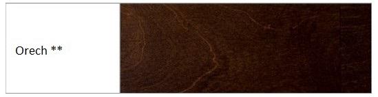 Drewmax Manželská posteľ - masív LK190   180 cm buk Morenie: Orech