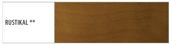 Drewmax Manželská posteľ - masív LK190   180 cm buk Morenie: Rustikal