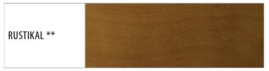 Drewmax Manželská posteľ - masív LK190 | 180 cm buk Morenie: Rustikal