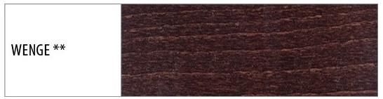 Drewmax Manželská posteľ - masív LK190 | 180 cm buk Morenie: Wenge