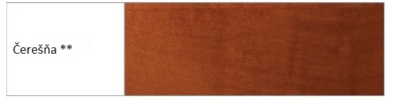 Drewmax Manželská posteľ - masív LK190 | 180 cm buk Morenie: Čerešňa