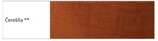 Drewmax Manželská posteľ - masív LK194 | 180 cm buk Morenie: Čerešňa
