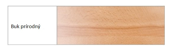 Drewmax Komoda - masív KD411 / buk Morenie: Buk prírodný