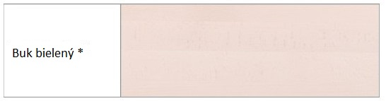 Drewmax Komoda - masív KD414 / buk Morenie: Buk bielený