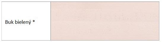 Drewmax Vitrína - masív KW401 / buk Morenie: Buk bielený