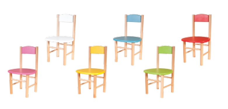Drewmax Detská stolička AD251 Farba: Biela