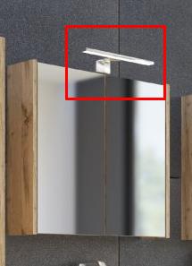 ArtCom Kúpeľňová zostava IBIZA | grafit Ibiza: LED osvetlenie / 15 cm (pre zrkadlovú skrinku 840)