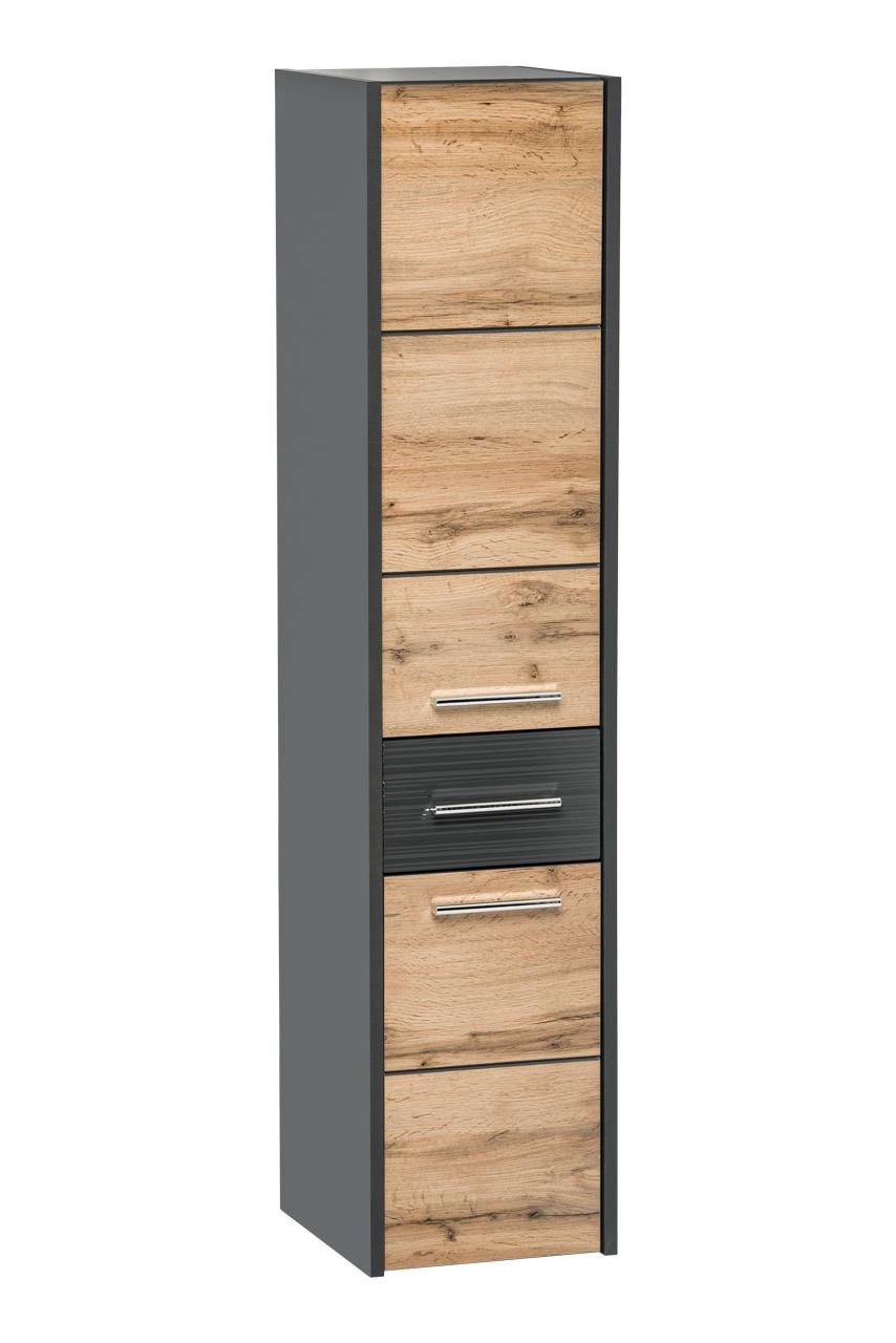 ArtCom Kúpeľňová zostava IBIZA | grafit Ibiza: vysoká skrinka Ibiza 800 - 135 x 30 x 33 cm