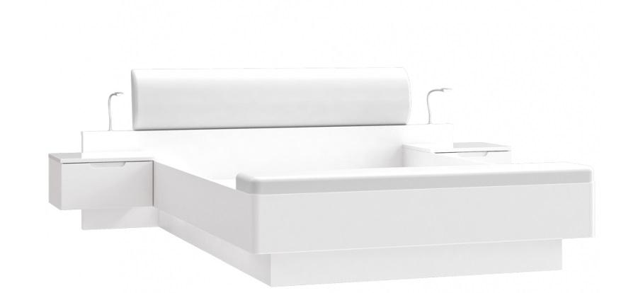 Forte Manželská posteľ Starlet White STWL163 Prevedenie: Manželská posteľ
