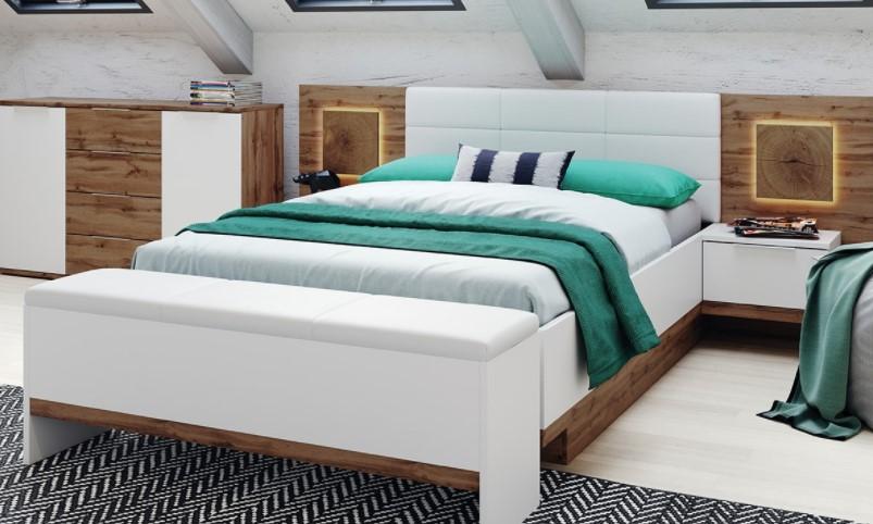 Szynaka Manželská posteľ Livorno 66 Farba: Biela
