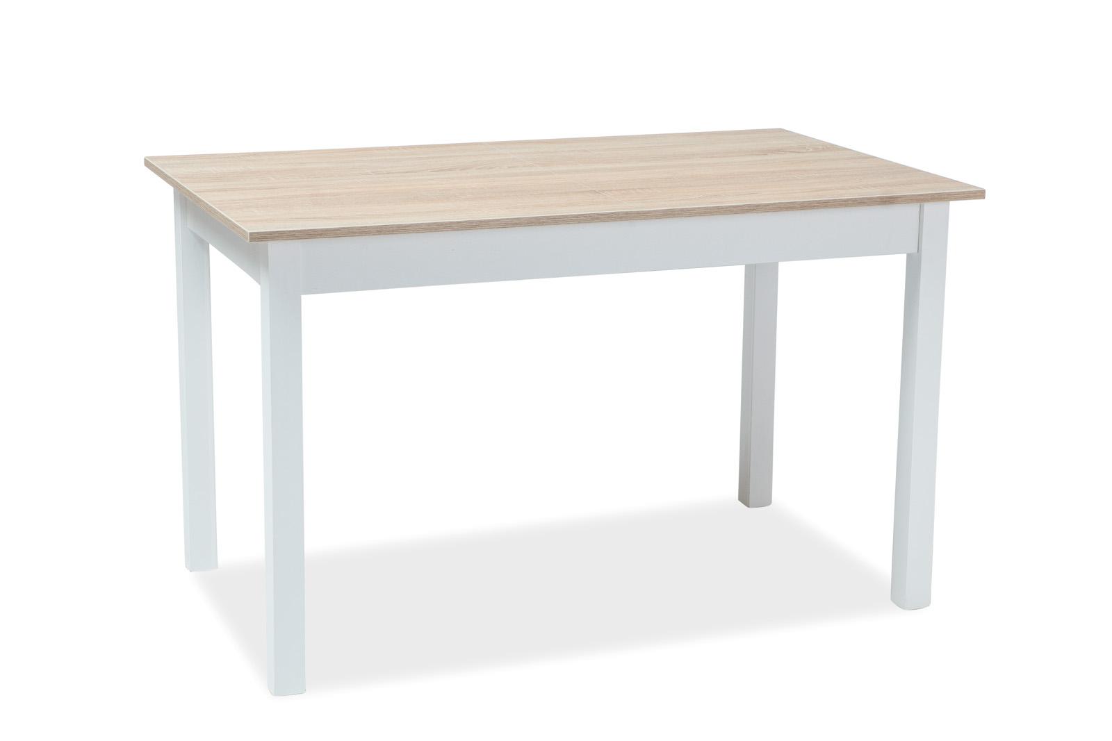Signal Jedálenský stôl Horacy biela/dub sonoma Prevedenie: 100 (140) x 60 cm