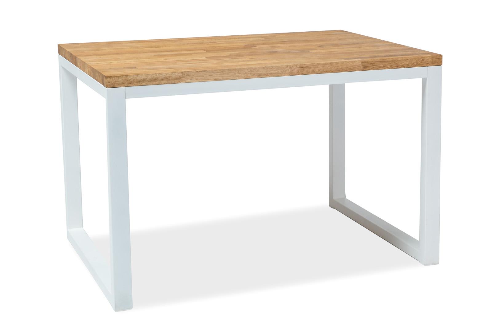 Signal Jedálenský stôl Loras II / Dubová dýha Prevedenie: Biela - 77 x 80 x 120 cm