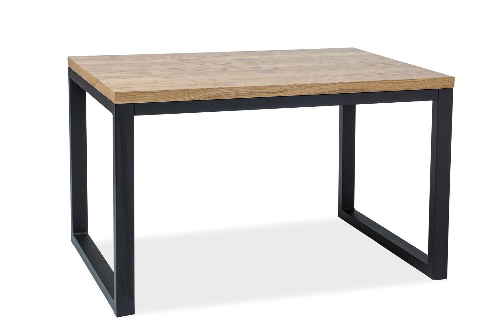 Signal Jedálenský stôl Loras II / Dubová dýha Prevedenie: Čierna - 77 x 90 x 180 cm