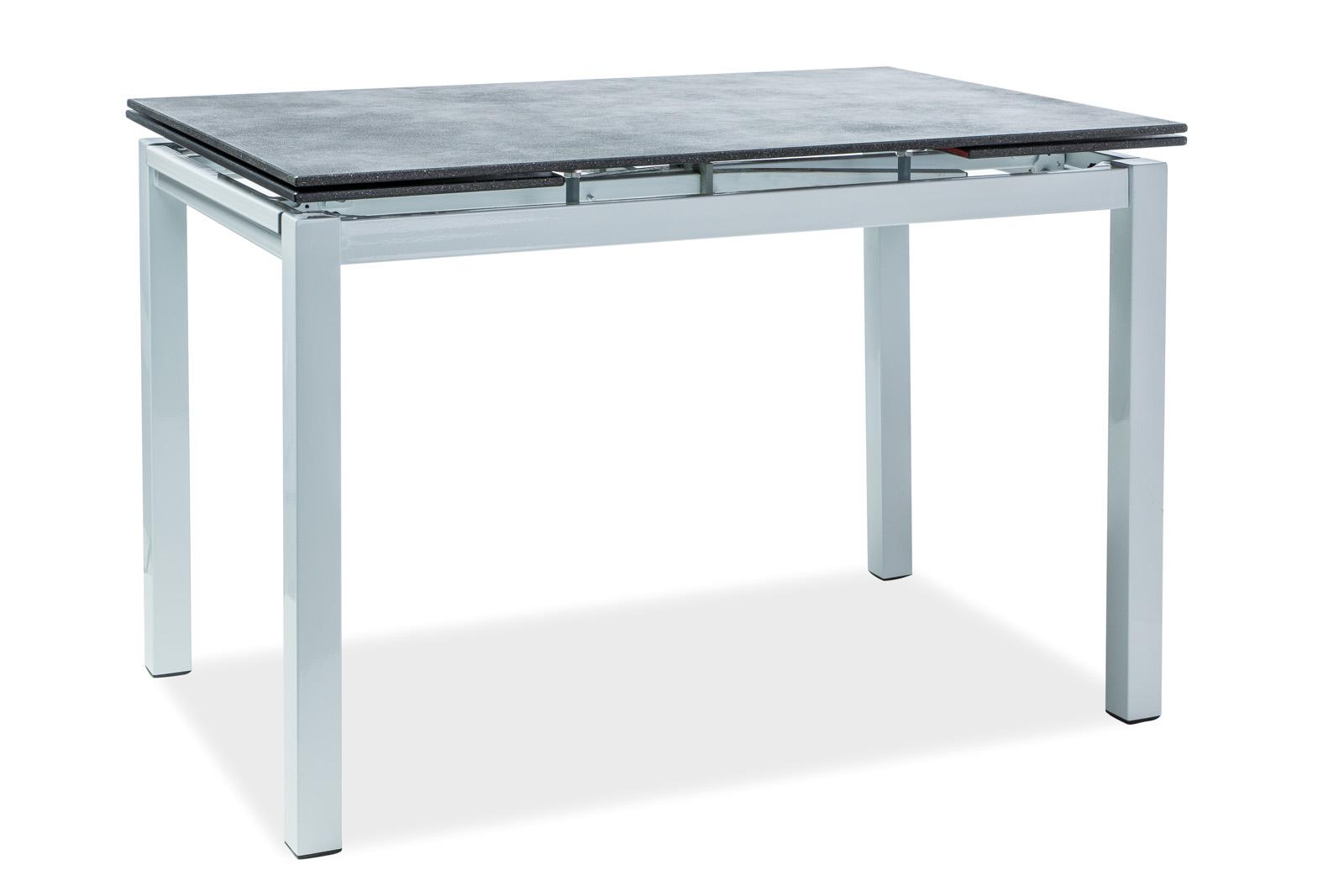 Signal Jedálenský stôl Turin Farba: Biela / čierna