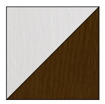 Dolmar Písací stôl Alan 09 Farba: biela/hnedá