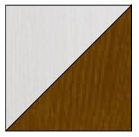 Dolmar Písací stôl Alan 09 Farba: Biela/orech