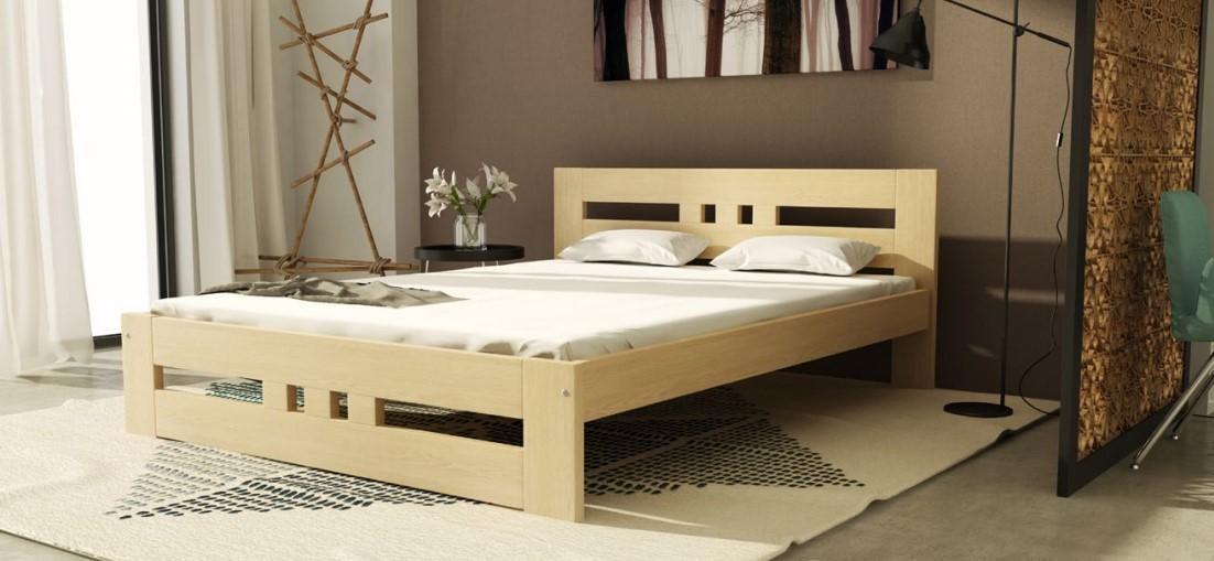 Dolmar Drevená posteľ Roma Farba: Skladová zásoba : Biela : 180 x 200 cm