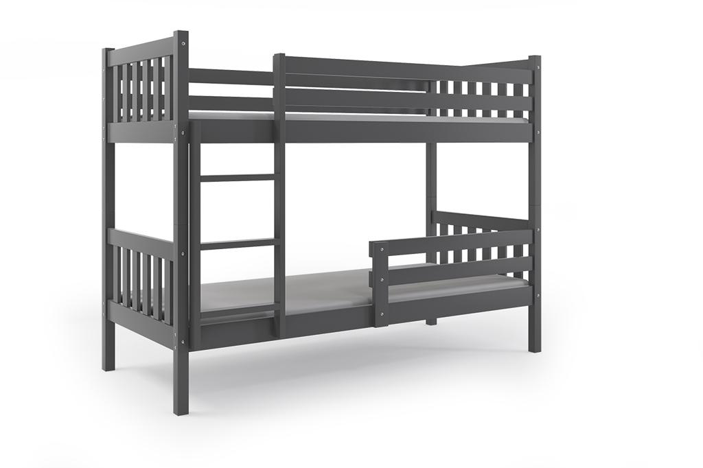 BMS Poschodová detská posteľ Carino 90x200 Farba: Grafit