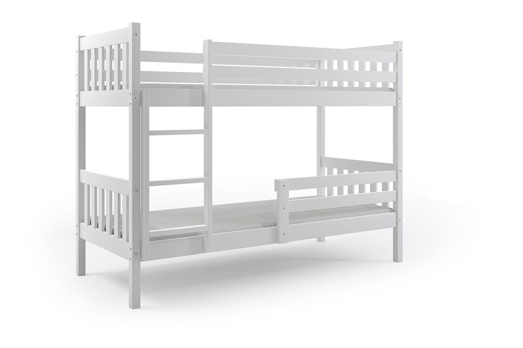 BMS Poschodová detská posteľ Carino 90x200 Farba: Biela